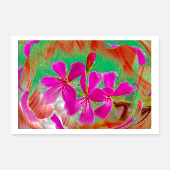 Decorazione Poster - red and pink - Poster bianco