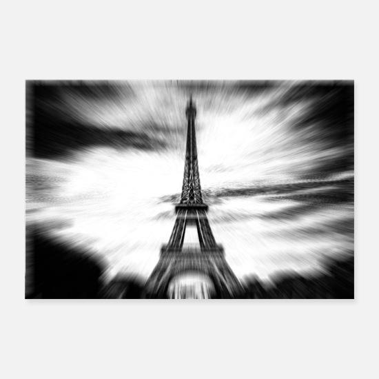 26ed26914de10 Paris Poster - Paris Eifelturm schwarz weiß - Poster Weiß