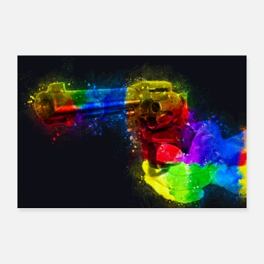 Parents Revolver pistol painting art - Poster