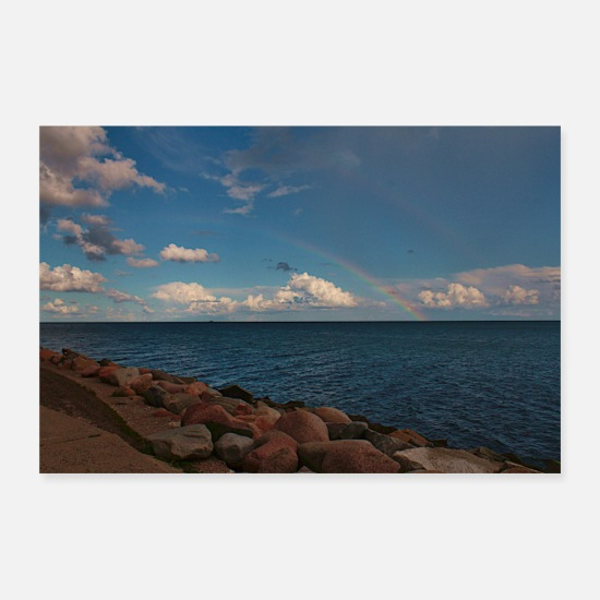 Rügen Posters - Evening by the sea - Posters white