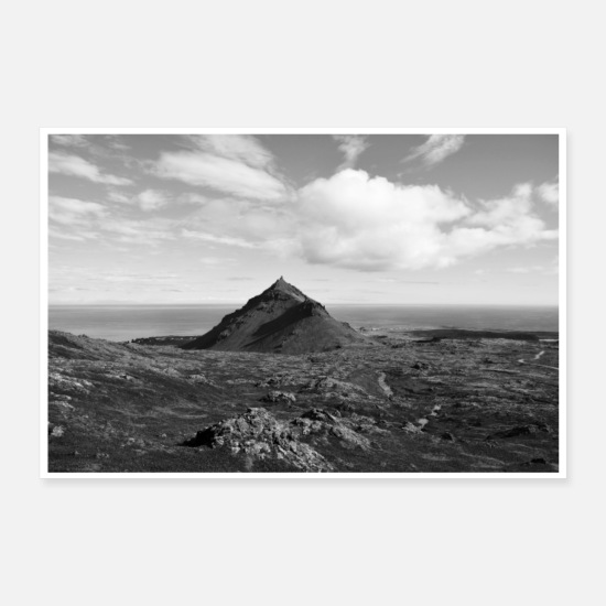 Mountains Posters - On the way to the center of the earth Poster Iceland - Posters white