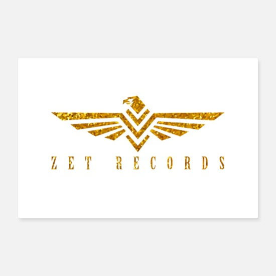 Sidney Posters - ZET RECORDS Gold - Posters white