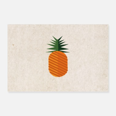 Beach Sweet colorful pineapple - Poster