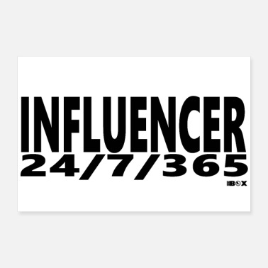 Online Influencer Influence Wort Instagram youtube online - Poster