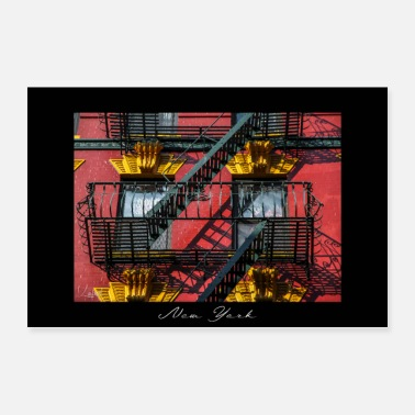New York Trappen in Chinatown - Poster