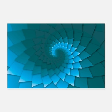 Shack Blue Sea Rosette Coral - poster - Poster