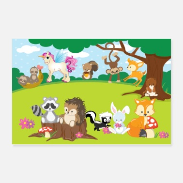 Forest Animal Poster Forest Animals ... Nursery - Poster