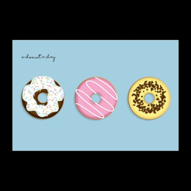 A Donut A Day! - Poster 90x60 cm