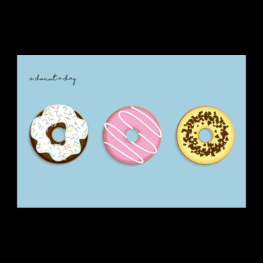A Donut A Day! - Poster 36 x 24 (90x60 cm)