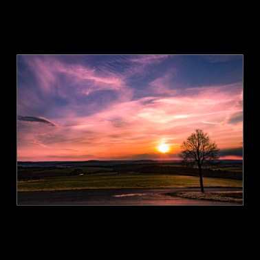 Sunset from the mountain / landscape image - Poster 36 x 24 (90x60 cm)