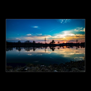 Tramonto sul canale / Tramonto - Poster 90x60 cm