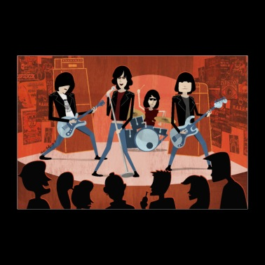 Cartoon Punk-Rock band POSTER - Poster 36 x 24 (90x60 cm)