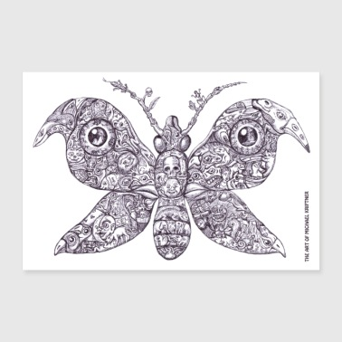 Gingerbread Butterfly - Art of MK - Poster 90x60 cm