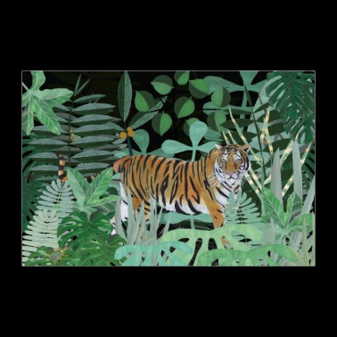 Tiger in the jungle - Poster 36 x 24 (90x60 cm)