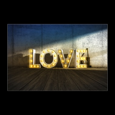 Lights of Love - Poster 90x60 cm