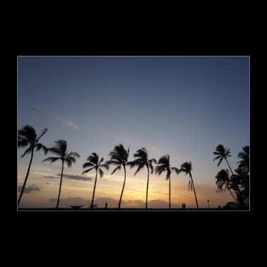 Tramonto alle Hawaii - Poster 90x60 cm