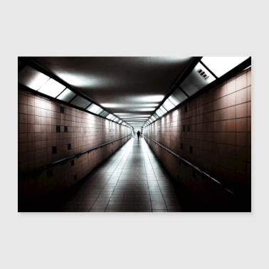 Tunnel rouge - Poster 90 x 60 cm