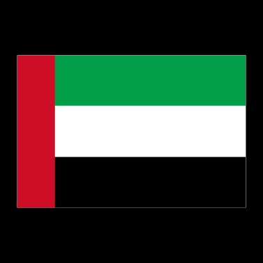 United Arab Emirates flag - Poster 36 x 24 (90x60 cm)
