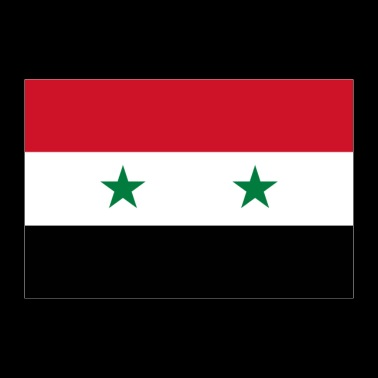Syria flagg - Poster 90x60 cm
