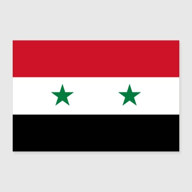 Syrien Flagge - Poster 90x60 cm