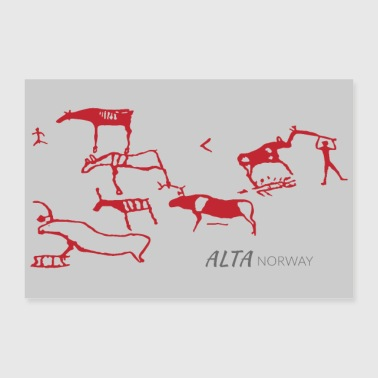 Rock carving of Alta, Norway (Poster) - Poster 36 x 24 (90x60 cm)