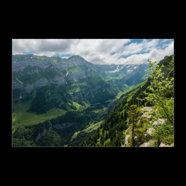 Alpes suisses. Seealpsee - Poster 90 x 60 cm