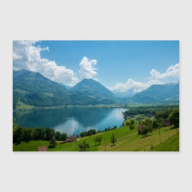 Sarnersee. Sveits - Poster 90x60 cm
