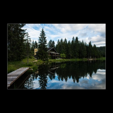 Small lake in Veneto, South Tyrol, Italy - Poster 36 x 24 (90x60 cm)