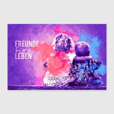 Friends for life - Poster 36 x 24 (90x60 cm)