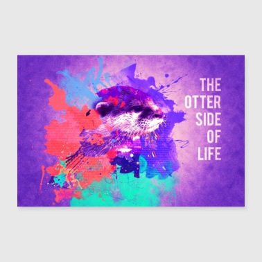 Otter Side of Life - Poster 90x60 cm
