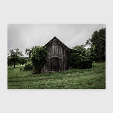 scary hut - Poster 36 x 24 (90x60 cm)