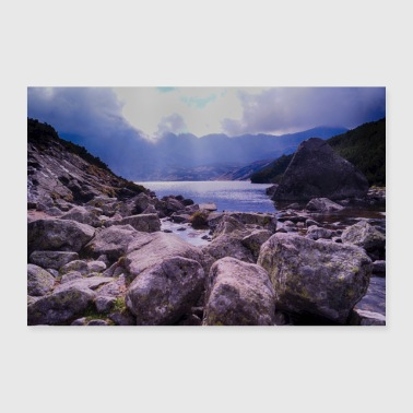 High Tatra mountain lake - Poster 36 x 24 (90x60 cm)