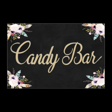 Boho Candy Bar black 2 - Poster 36 x 24 (90x60 cm)