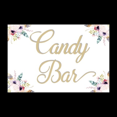 Candy bar bianco - Poster 90x60 cm