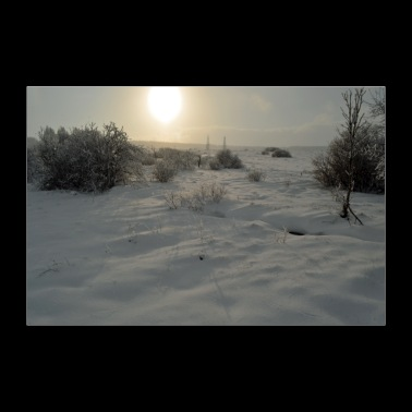 Winter day poster - Poster 36 x 24 (90x60 cm)