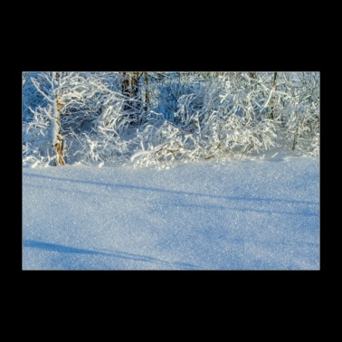 Winter snow crystals poster - Poster 36 x 24 (90x60 cm)