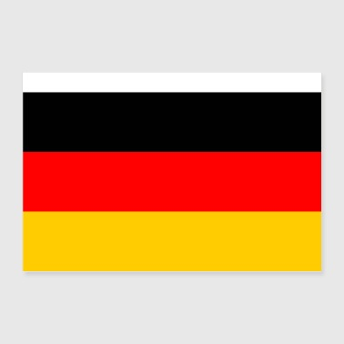 Germany flag - Poster 36 x 24 (90x60 cm)