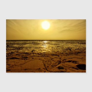 sunset at the beach - Poster 36 x 24 (90x60 cm)