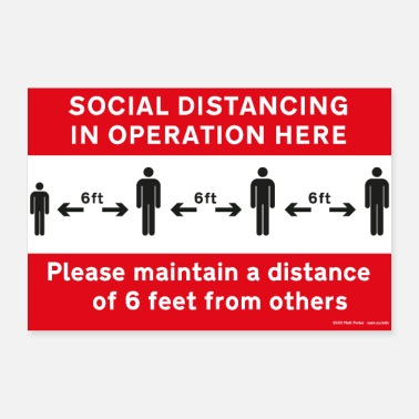 Us Social distancing i Operation Poster (US) - Poster