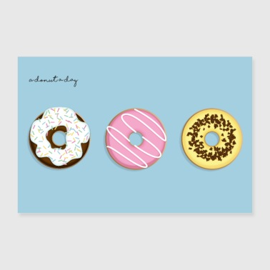 A Donut A Day! - 30x20 cm Poster