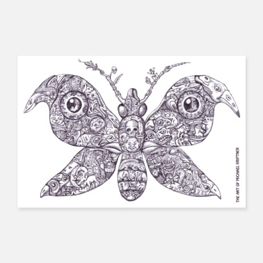 Tier Sammelsurium Schmetterling - the Art of M.K. - Poster 30x20 cm