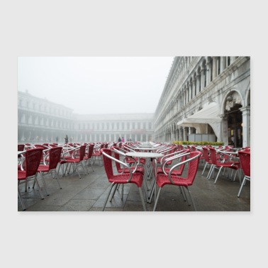 saint mark's square in the fog - 30x20 cm Poster
