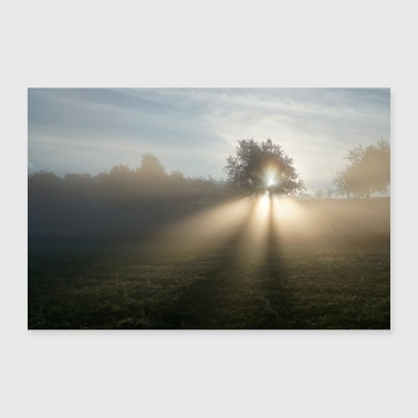 morning sun - 30x20 cm Poster