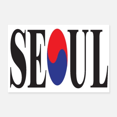 Large SEOUL 3 2 UK 01 - 30x20 cm Poster