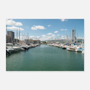 Harbour French Boat harbour - Poster