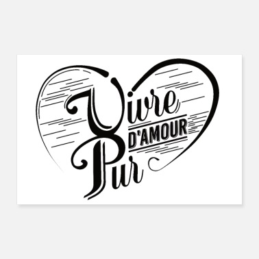 Mariage VIVRE D'AMOUR PUR 2 Tee Shirts - Poster