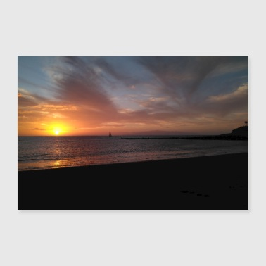 Sejlads Solnedgang Tenerife - Poster 30x20 cm