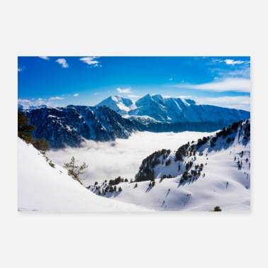 Hiver Montagne - Poster