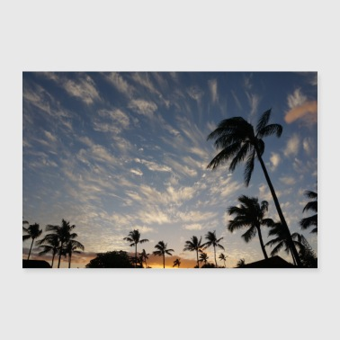 Hawaii palm trees - 30x20 cm Poster