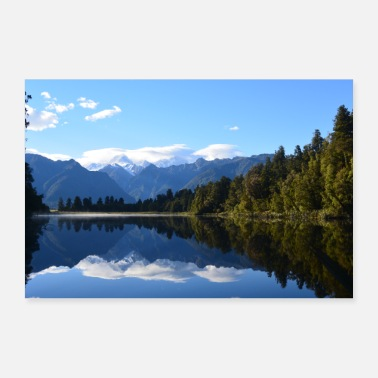 New Zealand Lake Matheson - New Zealand - Poster